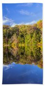 Mirror Reflections Of Fall Beach Towel