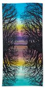 Mirror Water Beach Towel