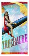 Miss Fire Cracker Beach Towel