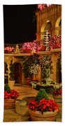 Mission Inn Christmas Chapel Courtyard Beach Towel