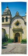 Mission San Carlos - Carmel California Beach Towel