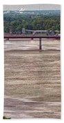 Mississippi River At I-72 Beach Towel