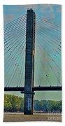 Mississippi River Bridge At Cape Girardeau Mo  Beach Towel