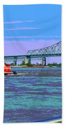 Mississippi River Scene Poster Beach Towel