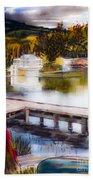 Misty Dream Beach Towel by Kip DeVore