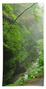 Misty Evening At Watkins Glen Beach Towel