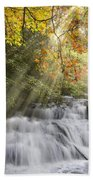 Misty Falls At Coker Creek Beach Towel