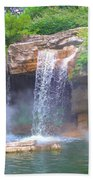 Misty Falls Beach Towel