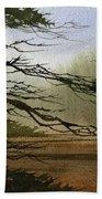 Misty Forest Bay Beach Towel