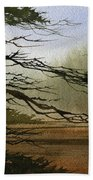 Misty Forest Bay Beach Towel