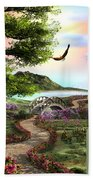 Misty Meadow Beach Towel
