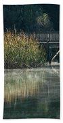 Misty Pond Beach Towel
