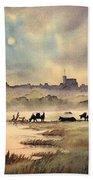 Misty Sunrise - Windsor Meadows Beach Towel