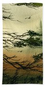 Misty Tideland Forest Beach Towel