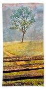Misty Tree Beach Towel