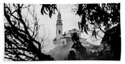 Misty View Of Monserrate Church Beach Towel