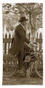 Mitchell Motorcycle Circa 1907 Beach Towel