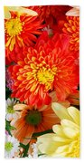 Mixed Flowers Beach Towel