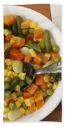 Mixed Vegetables Meal Beach Towel