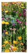 Mixed Wildflowers Beach Towel