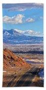 Moab Fault Medium Panorama Beach Towel