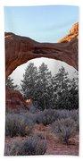 Moab Snow Globe Beach Towel
