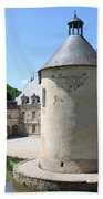 Moated Castle - Bussy Rabutin - Burgundy Beach Towel