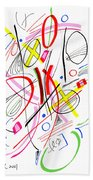 Modern Drawing Fifty-three Beach Towel
