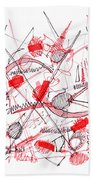 Modern Drawing Ninety-five Beach Towel