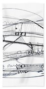 Modern Drawing Seventy-six Beach Towel