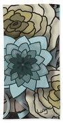 Modern Water Lily Beach Towel