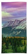 Molas Pass Sunset Panorama Beach Towel