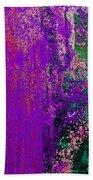 Molten Earth Purple Beach Towel