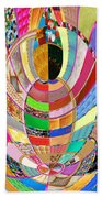 Mom Hugs Baby Crystal Stone Collage Layered In Small And Medium Sizes Variety Of Shades And Tones Fr Beach Towel
