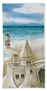 Mommy And Me Sandcastles Beach Towel