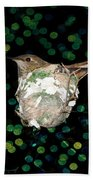 Mommy Hummingbird In The Nest Beach Towel