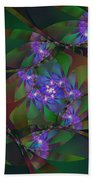 Mom's African Violets Beach Towel