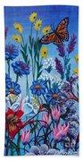 Mom's Flowers Beach Towel