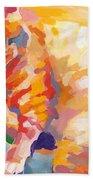 Mona Lisa's Rainbow Beach Towel by Kimberly Santini
