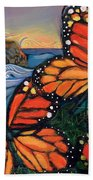 Monarch Butterflies At Natural Bridges Beach Towel by Jen Norton