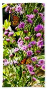 Monarch Butterfly Couple Beach Towel