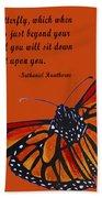 Monarch Butterfly Pismo Beach Beach Towel