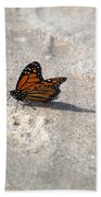 Monarch On The Beach Beach Towel