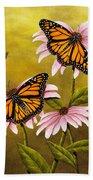 Monarchs And Coneflower Beach Towel