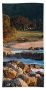 Monastery Beach In Carmel California Beach Towel