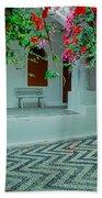 Monastery Symi Greece Beach Towel