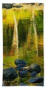 Monet Autumnal 02 Beach Towel by Aimelle