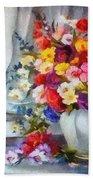 Monet Floral Edged Beach Towel