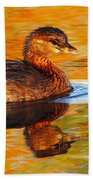 Monet Grebe Beach Towel