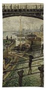 Monet The Coalmen 1875 Beach Towel